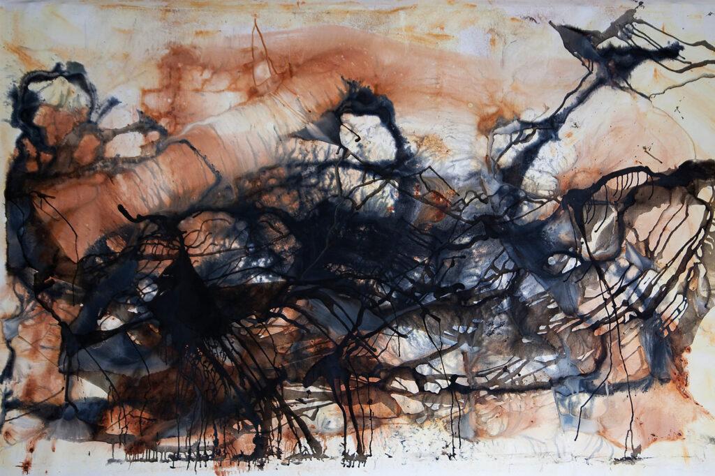 australian abstract artist outback bush desert dry