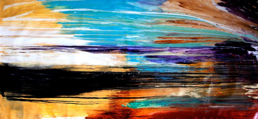 abstract art colourful australian